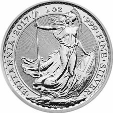 2017 Great Britain Silver Britannia 1oz BU