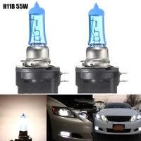 2x H11B 55W Car Xenon Halogen Light Headlight Bulb Lamp Bright White 6000K DC12V