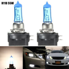 2x H11B 55W Car Xenon Halogen Light Headlight Bulb Lamp Bright White 6000K DC12V