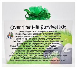 Over The Hill Survival Kit - Fun Novelty Gift & Card Alternative / Keepsake