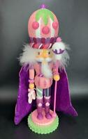 "NEW Kurt Adler 15"" Purple Sugar Plum  Soldier Nutcracker HOLLYWOOD Floor Model"