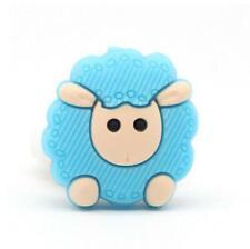 2pcs Food Grade Silicone Beads sheep Baby Teething Nursing Pacifier Chain Gift
