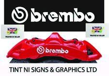 BREMBO BRAKE CALIPER DECALS STICKERS HIGH TEMP - SET OF 4