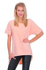 Womens Asymmetric Top Wings Print T-Shirt Tunic Mini Dress Size 8-14 FT1884
