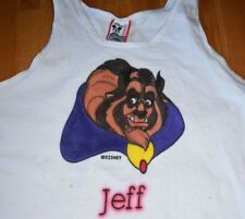 Vtg 1990s Walt Disney World Beauty and the Beast Mens Tank Top Muscle T Shirt M