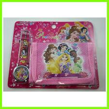 Princess Snow White Belle Children's Kids Boys Girls Watch Wallet Set FREE SHIP