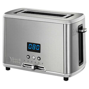 Russell Hobbs Studio 1-Slice Electric Bread Toaster 820W Stainless Steel SLV