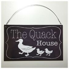 The Quack House Sign Wall Plaque or Hanging Ducks Duck Coop Farm Country Farm
