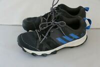 Adidas Boys Traxion Athletic Sneakers Shoes - Size 1.5 - Black/Blue/Grey