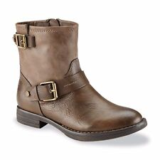 NEW! Bongo Women's Karlie Western Ankle Fashion Booties Brown #20353* 165G