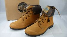 Palladium Baggy Leather Gusset Amber Gold Waterproof Combat Boots UK 8 New EU 42