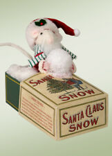 Byers Choice Little White Mouse in Vintage Snow Box New Store Stock Adorable!