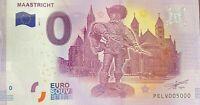BILLET 0  EURO MAASTRICHT PAYS BAS  2017  NUMERO 5000 DERNIER BILLET