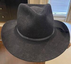 Resistol Duster Cowboy Hat. Size 7 1/2. F8X38. Genuine Fur Felt. Black.