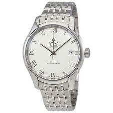 Omega De Ville Hour Vision White Dial Stainless Steel Mens Automatic Watch