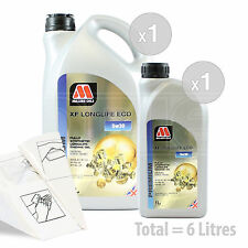 Car Engine Oil Service Kit / Pack 6 LITRES Millers XF Longlife ECO 5w-30 6L