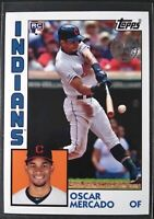 2019 Topps Update Oscar Mercado RC Rookie 1984 Topps 35th Anniversary Indians