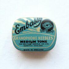 GRAMOPHONE NEEDLE TIN - Embassy - Medium Tone [NEEDLE TIN]