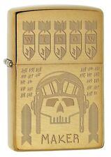 Zippo Lighter: Widow Maker, Trench Art - Brushed Brass 77385