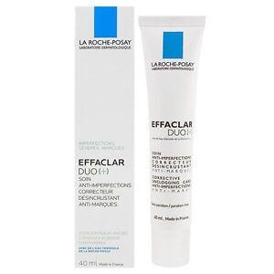 La Roche-posay Effaclar DUO (+) 1.35 Oz/40ml NIB NEW Acne Blemishes Treatment