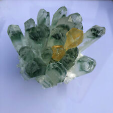 500g Green Ghost Geode Natural Quartz Crystal Cluster Healing Ore Collectibles