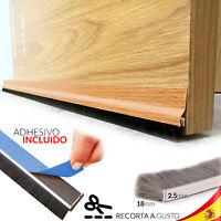BURLETE con PELO BAJOs PUERTA anti Suciedad Insectos MARRON 98 cm CASA OFICINA