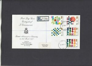 1977 Chemistry RAF Bruggen FDC Forces Post Office 62 registered CDS. 1/125