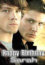 Sobrenatural Sam Dean Winchester Personalizado De Cumpleaños Tarjeta De Arte! TV Show suplantación de identidad