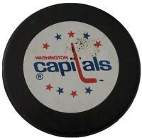 WASHINGTON CAPITALS NHL VINTAGE OFFICIAL HOCKEY PUCK INGLASCO MADE IN 🇸🇰 RARE