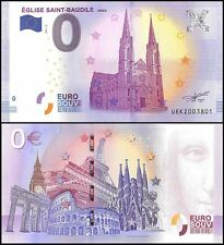 Zero (0) Euro Europe, 2017, UNC, Church, Eglise Saint-Baudile in Nimes France