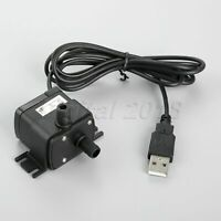 1PC DC 12V Pump Brushless Submersible Pond Tank Water Pump Wire w/ USB Interface