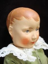 """Antique Circa 1920s Antique German Cloth Doll, jointed 14"""""""