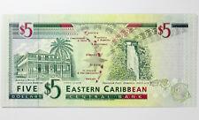 St Kitts Eastern Caribbean Five Dollars (1994) UNC ~ P31k British Admin $5