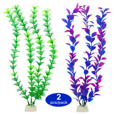 2pcs Glowing Effect Artificial Coral Aquarium Silicone Decor Fish Tank Saltwater