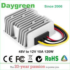 GOLF CART DC CONVERTER 10 AMP 48V 48 VOLT VOLTAGE REDUCER REGULATOR TO 12V 10A