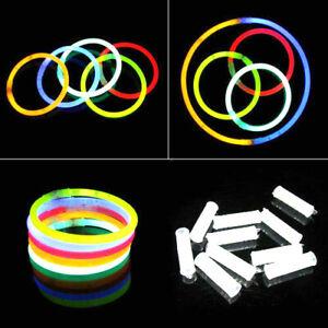 Glow Sticks Bracelets Necklaces Neon Colors Party Favors Disco Rave 8'' 50 - 100