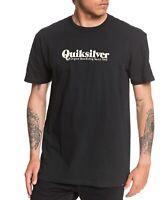 Quiksilver Mens T-Shirt Black Size XL Modern Script Crewneck Graphic Tee 488