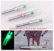 3x Shooting Automatically Lighted Nock Compound Bow Led Arrow Nock Green 6.2mm