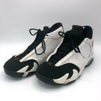 Nike Air Jordan Retro 14 XIV Black Toe White Red Mens 487471-102 Size 10