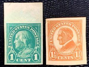 US Stamp SC #575-576 Imperf. Regular Issues