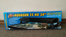 "Zoo Med AquaSun T5-HO Dual Linear Fluorescent Hood 24"".. Free Shipping"
