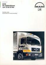 MAN M 90 12-24 t Prospekt NL brochure Lastwagen Nutzfahrzeug LKWs truck Germany