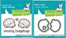 Lawn Fawn Photopolymer Clear Stamps 4ct + Dies HEDGEHUGS Hedgehog ~ LF729, LF730