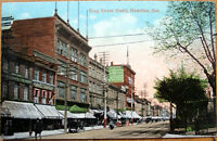 1910 Hamilton, Ontario Postcard: King Street East/Downtown - Canada