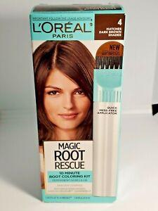 L'Oreal Magic Root Rescue ~ 10 Minute Root Coloring Kit ~ 4 Dark Brown