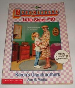 BABY-SITTERS CLUB LITTLE SISTER #10 KAREN'S GRANDMOTHERS Ann M Martin Babysitter