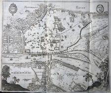 FRANKREICH NORMANDIE ROTOMAGUS ROUEN MERIAN ARCHONTOLOGIA WAPPEN ANSICHT 1638