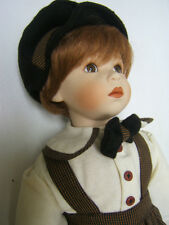 "Franklin Mint Heirloom ""Unknown Name Red Headed Boy Doll""19"" tallOrig BoxGuc awh"