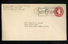 US Postal History WWII Military #UC8 APO #521 1945 Lyon France West New York NY