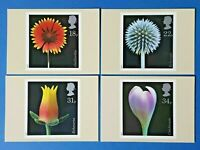 Set of 4 PHQ Stamp Postcards Set No.99 Flowers 1987 FY1